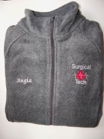 Surgical Tech Embroidered Fleece Jacket NICU  ER Nurse Ortho