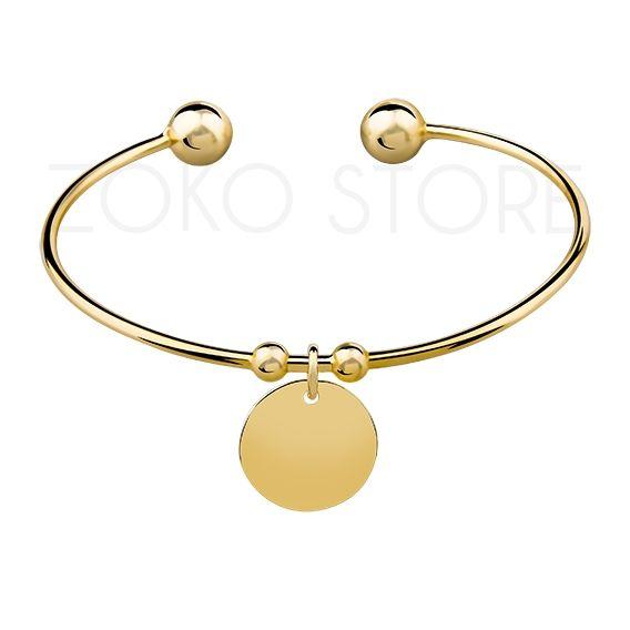 Srebrna bransoletka z kółkiem, pozłacana 24k złotem <3 #bransoletka #bransoletki