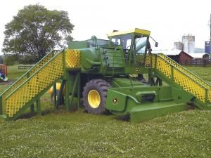 FARM SHOW - Old Combine Turned Into Playground
