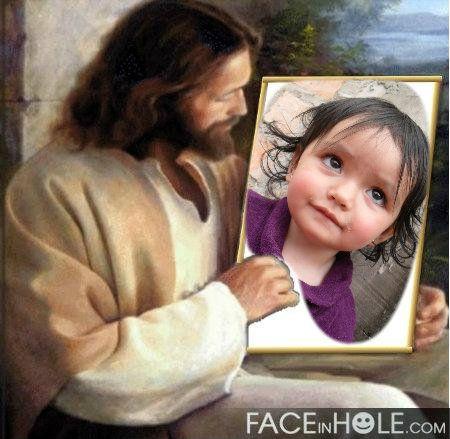 Fotomontaje-Jesús mirandote