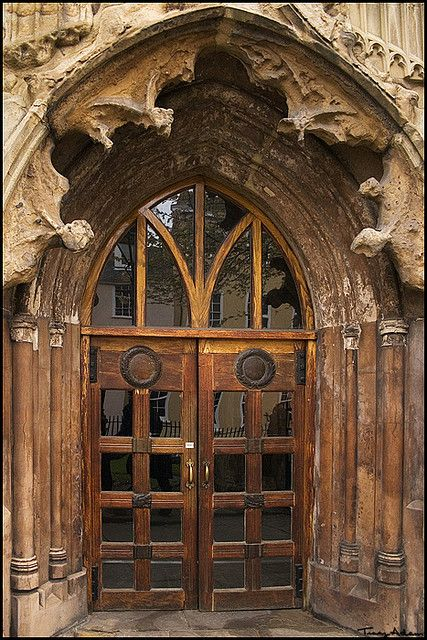 St. Mary's door by vcrimson, via Flickr ~ Sneinton, Nottingham, England,