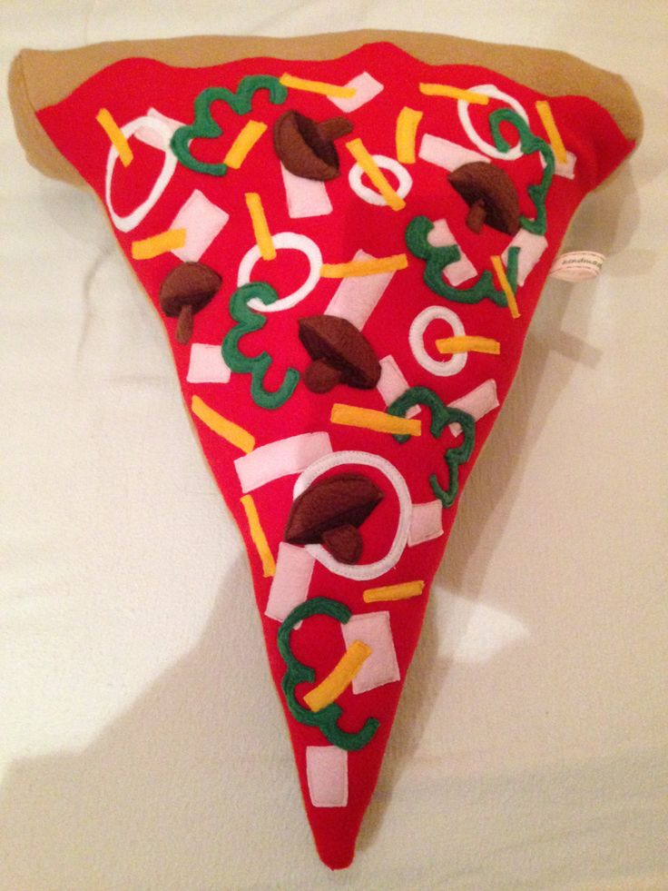 Food Pillow Pizza Pillow Pizza Slice Pizza Kissen