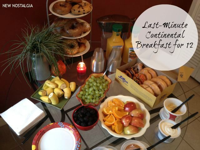 New Nostalgia: Last- Minute Continental Breakfast for 12 #breakfast #entertaining