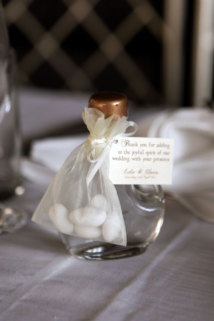 Another great gift to give to your guests for adding to the joyful spirit of your wedding day