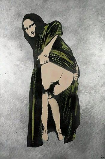 Banksy, Mona Lisa's Ass on ArtStack #banksy #art