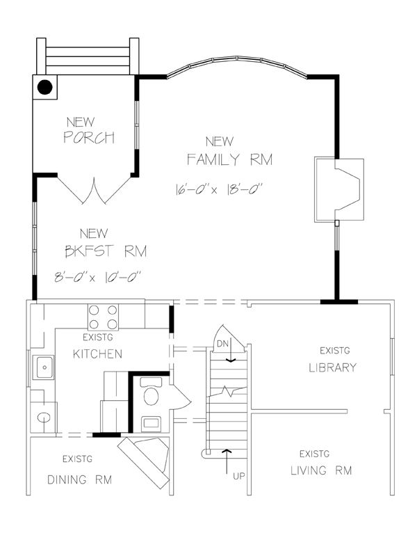 One room home addition plans family room master suite for Room addition blueprints