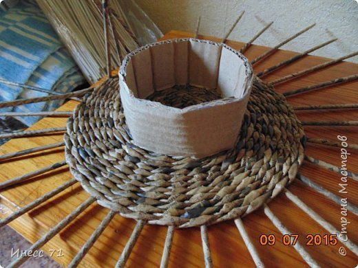 Обещала сделать МК на плетении корзины, вот предоставился случай. фото 3