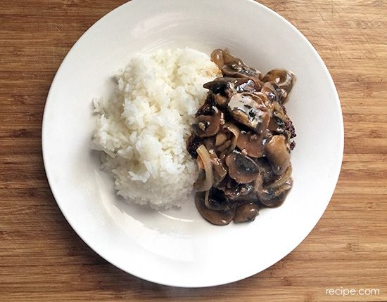 Burgundy Mushrooms Recipe — Dishmaps