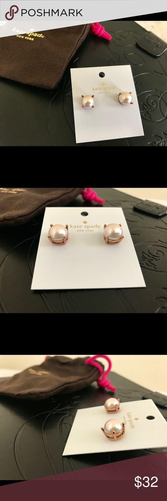 Kate Spade Earrings in blush colour Brand new kate spade Jewelry Earrings