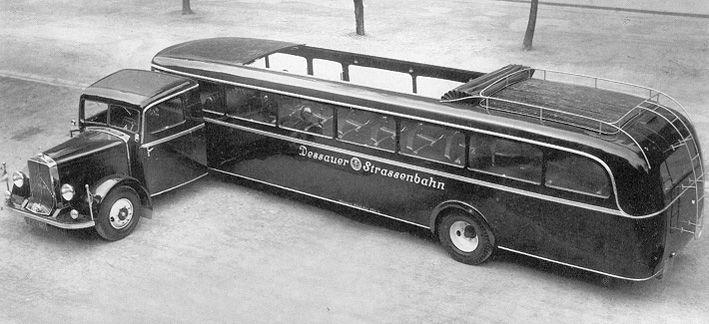 Mercedes Benz Trekker met oplegger 1936