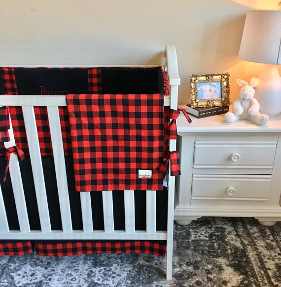 Red and Black Buffalo Check Baby Blanket, Baby Boy Blanket, Red Crib Blanket, Baby or Toddler Blanket, Designer Blanket, Minky Baby Blanket The unique design is too cute and perfect for your sweethearts style! Cant find the perfect baby shower gift? We have just the thing.. (or you can