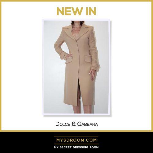 Dolce & Gabbana, Cappotto, Coat, Camel, New In, Milano, Armadio infinito, Infinite wardrobe
