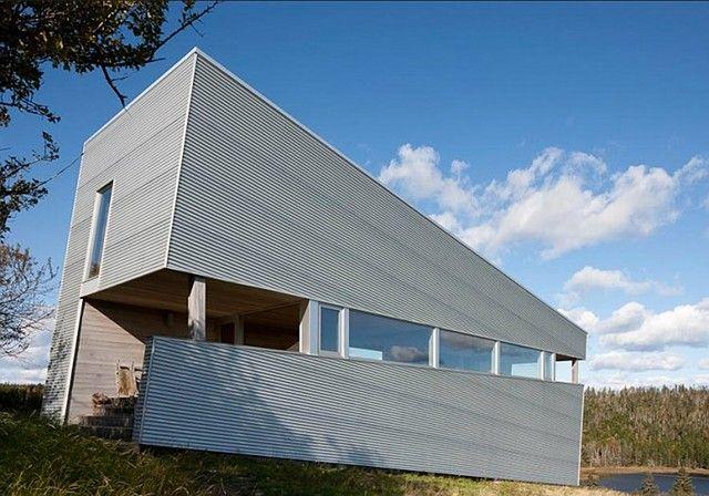slanted house in Nova Scotia, Canada