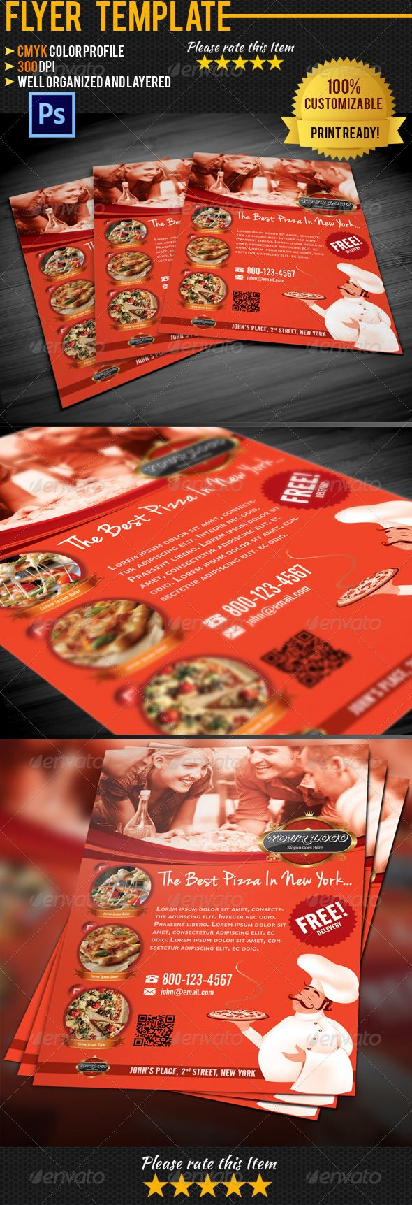 best images about print templates fonts flyer pizza flyer template