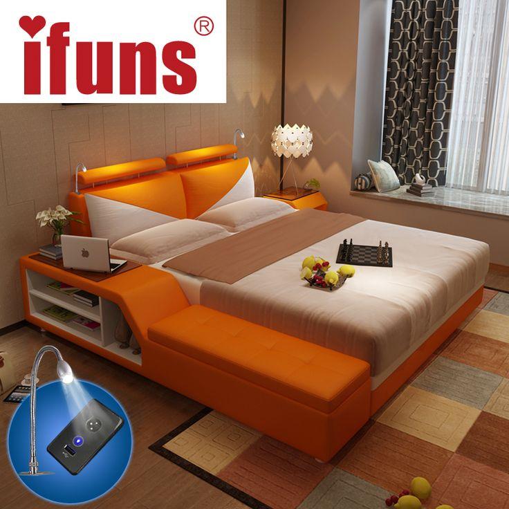 Simple pas cher ifuns de luxe mobilier de chambre fixe roi for Set de chambre pas cher