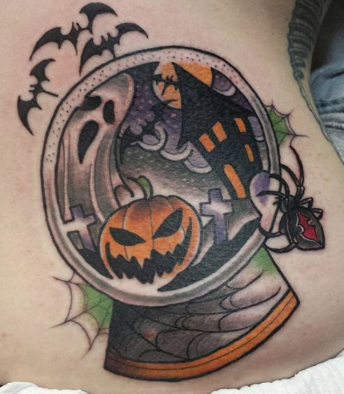halloween snowglobe tattoo richie blackheart - Show Me Halloween Pictures