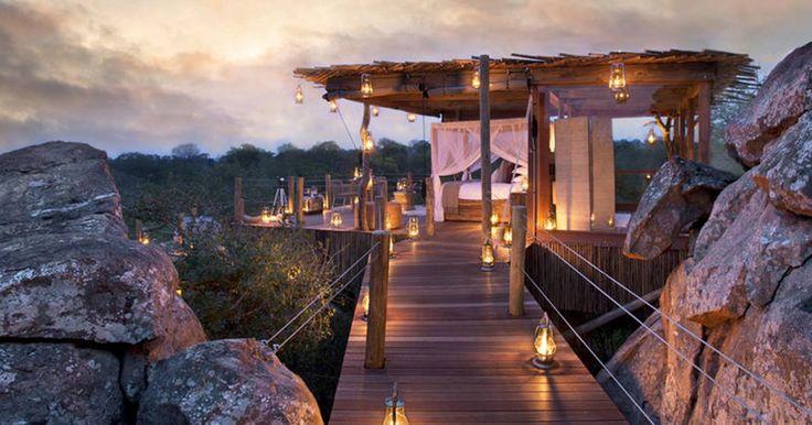 Hotel de carácter más romántico - oriente medio y África: Lion Sands Chalkley's Treehouse