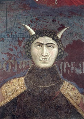 Ambrogio Lorenzetti, Allegory of Bad Government, detail of Tyranny, 1338-40, Palazzo Pubblico, Siena