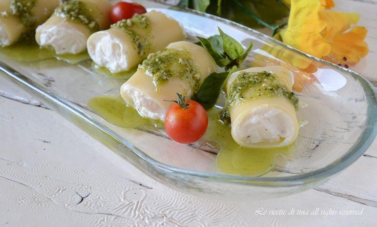 Paccheri+freddi+con+ricotta+e+mozzarella