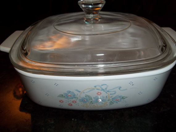 Corning Ware 1Quart/1Liter with Pyrex Lid Country by PyrexKitchen, $22.00