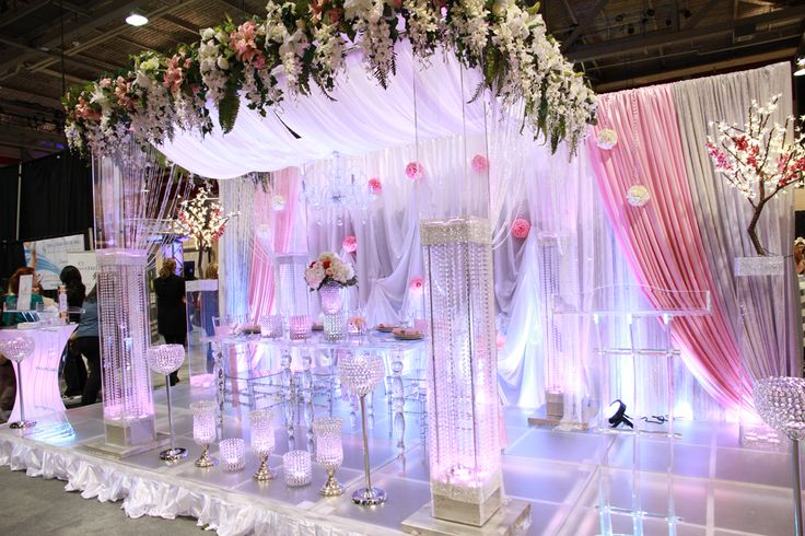 Centros Para Mesas De Cristal Acrylic Gazebo Customized With Crystal & Flowers | Crystal