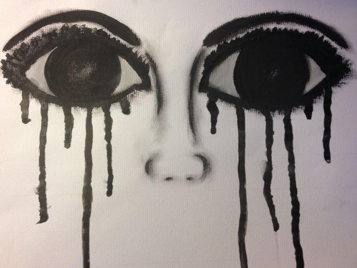 Drawing sad eyes