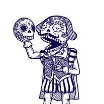 Day of the Dead Shakespeare Calavera Limited Edition Gocco Screenprint