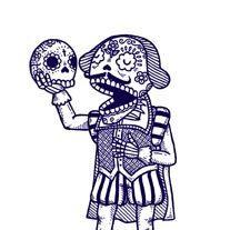 Day of the Dead Shakespeare Calavera Limited Edition Gocco Screenprint