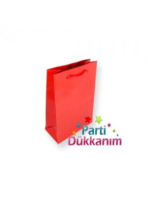 Kırmızı Kağıt Çanta (17x11 cm)