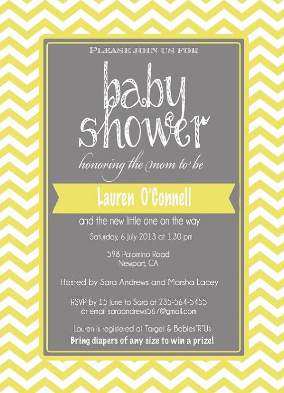 Baby shower invitations yellow and gray diabetesmangfo best babyshower invitations monikas images on baby shower invitation filmwisefo