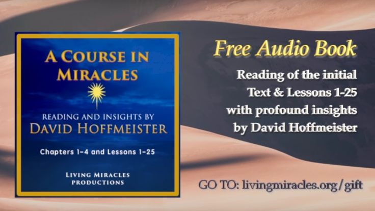 ACIM Free Audiobook Insights Trailer, David Hoffmeister A Course in Mira...