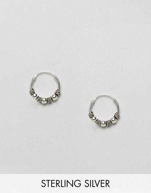 Kingsley Ryan | Kingsley Ryan Sterling Silver Multi Wrap Bali Hoop Earrings