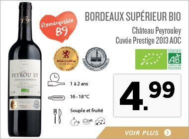 Bordeaux Supérieur Bio Château Peyrouley Cuvée Prestige 2013 AOC