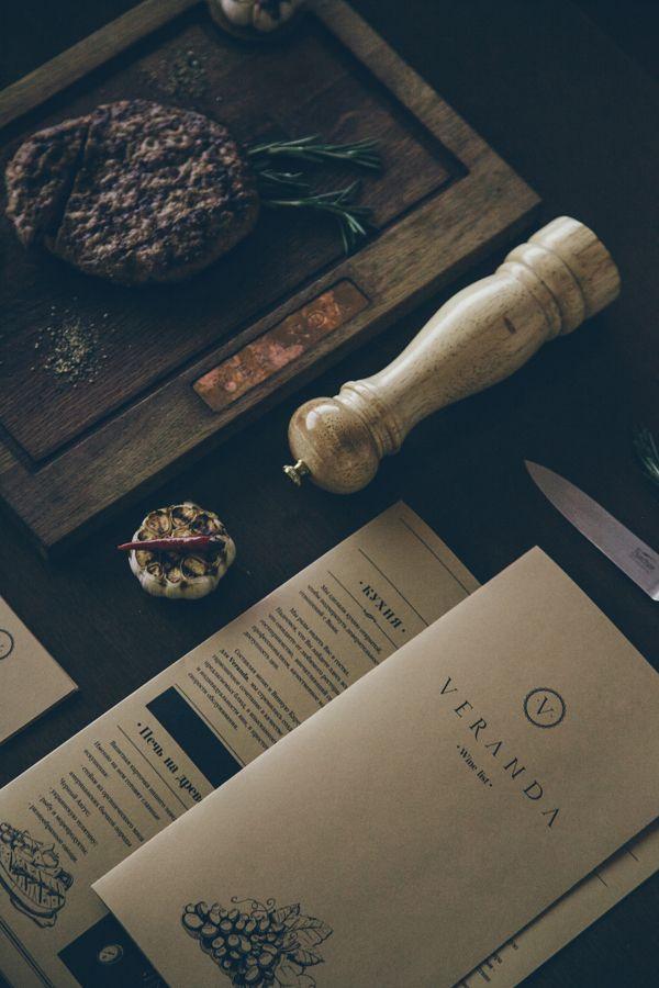 Veranda restaurant visual identity by Tibor Tovt, via Behance