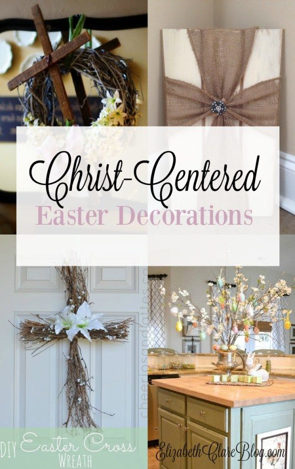 Love these Christian Easter decorations! A list of ways to bring Christ into your family home this spring.