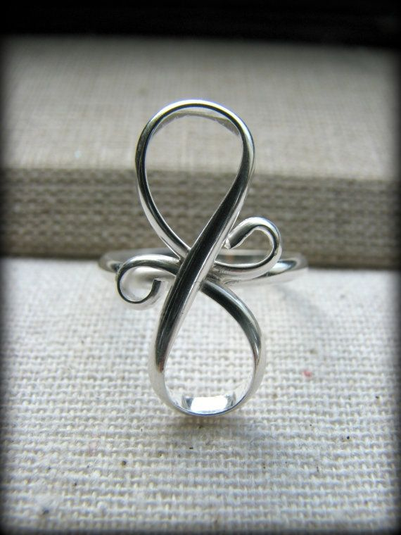 Infinity Ring Eternity Tattoo Design Sterling by stacysdesigns88, $75.00