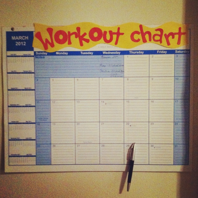 26 Best Images About Work Out Charts On Pinterest