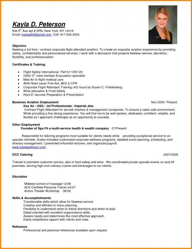 Awesome Cv Template For Cabin Crew Collection Resume For Flight