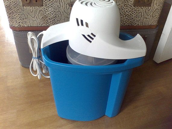 Ice Cream Maker Rival Ice cream freezer by VintageJunkGypsyShop