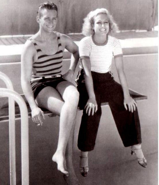 Joan Crawford and husband #1 Douglas Fairbanks Jr. - around 1930