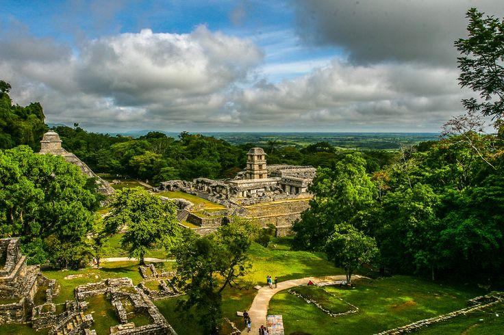 Glorious Palenque Mayan ruins. Mexico.
