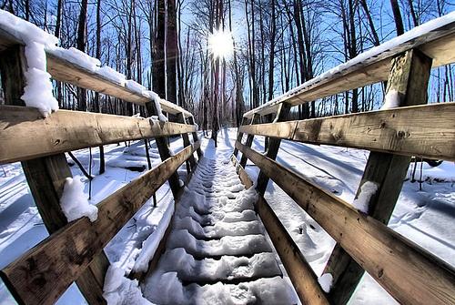 Sun & Snow, Waterloo, Ontario, Canada. #winter #Canada #travel