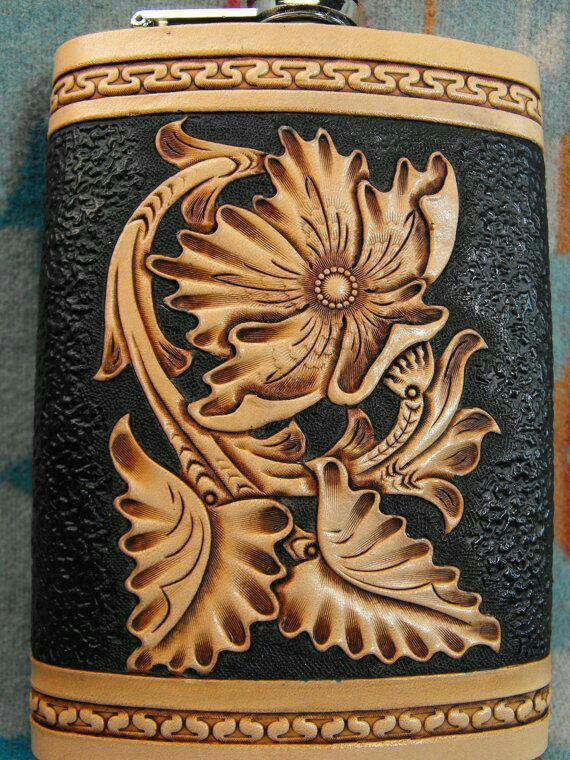 Best tooled leather patterns images on pinterest