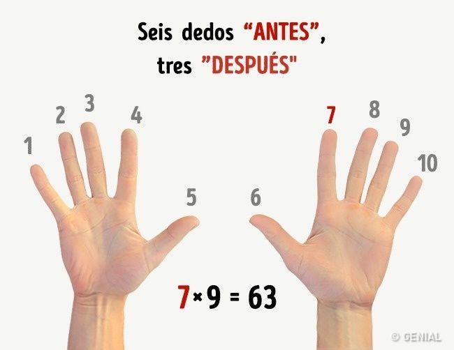 ¡El truco de multiplicar con los dedos me hizo la vida más fácil!