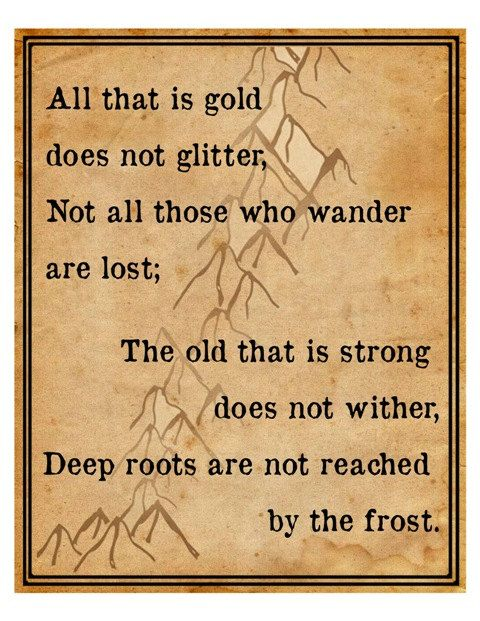 Tolkien Quote Lord of the Rings Hobbit by DigitalDesignVault