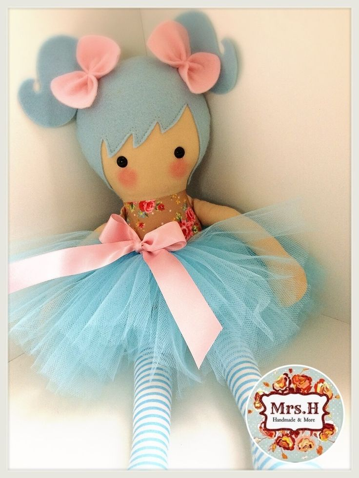 """19"""" dolly with removable tutu Suitable from birth Hand wash only"""