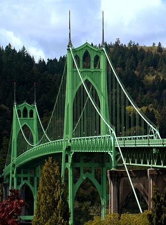 St. Johns Bridge Portland, Oregon. Photo by...Mesman Images.