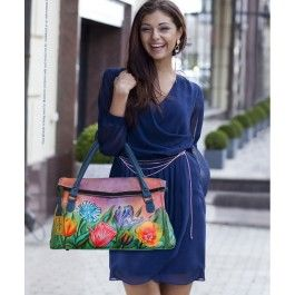 O explozie de culori si de lalele turcesti: geanta Nairi din piele naturala, Anuschka