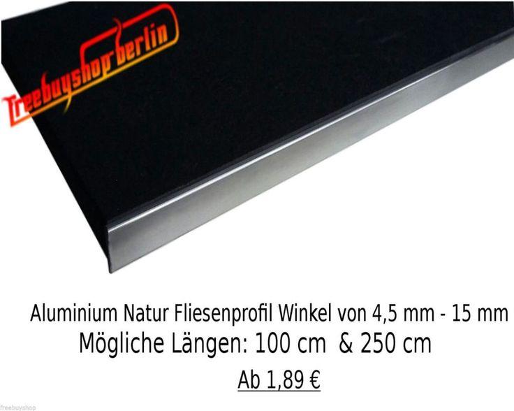 details zu 1x 100 cm aluminium natur fliesenprofil 12 5 mm. Black Bedroom Furniture Sets. Home Design Ideas