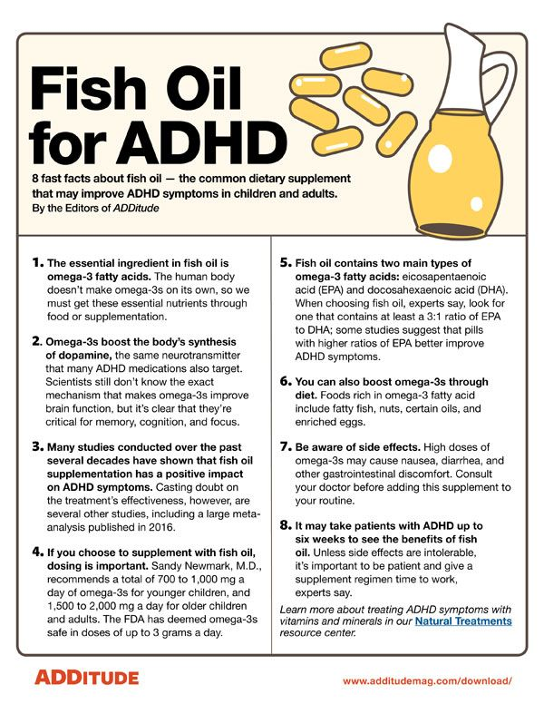 Adhd And Diet Effect Of Omega 3 Fatty >> Free Resource Fish Oil Treatments For Adhd Symptoms Adhd Adhd
